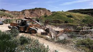 合阳县国土资源局严厉打击非法采矿