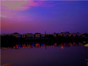 夜色下的于都河