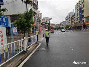 揭西交警积极开展城乡环境卫生综治交通秩序整治工作