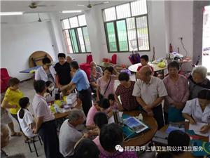 坪上镇卫生院到杨梅塘村开展下乡体检活动