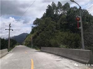 从河婆到良田的公路标识划线工作已完成