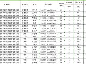 金牛湖新市镇投资建设有限公司成绩汇总表