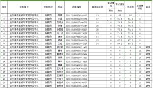 金牛湖街道城市城市管理协管员总成绩汇总表