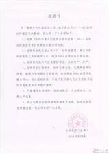 安阳蓝宝湾电线电缆有限公司承诺书