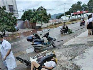 化州市丽岗路段一银色马自达小车肇事逃逸,伤者重伤不治身亡。
