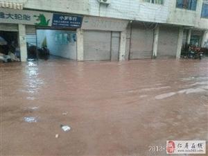 仁寿钟祥遭遇大雨袭击,一幼儿园受影响,部分农作物被淹
