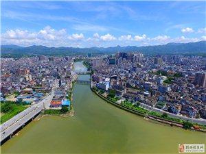 航拍揭西县城全景