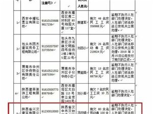 曝光!汉中一企业拖欠农民工工资100余万元