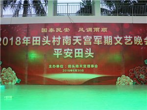 嘉积镇田头村2018年南天公民俗文化节文艺晚会掠影