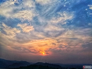 洛栾高速夕阳美景