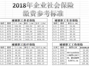 【分享】2018仁寿企业社会保险缴费标准及相关资料