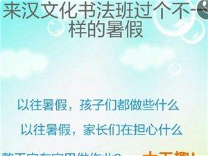 【书画培训】武功汉文化书画国学课堂2018年暑期训练营开班了
