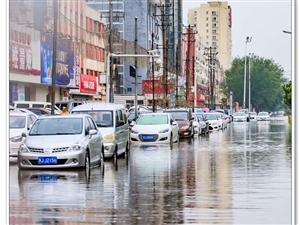 大雨过后、全是积水