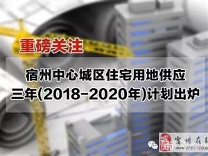 6900亩!宿州公布中心城区未来3年住宅用地供应计划