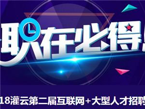 2018灌云第二届互联网+暑期大型人才招聘会圆满成功!