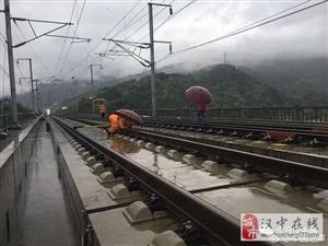 暴雨致西成高铁广元段封锁