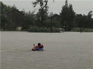 成都商报――广汉90后辅警洪水中逆行而上,这张照片既让人感动又让人担心