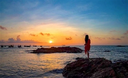 琼海博鳌~红石滩日出