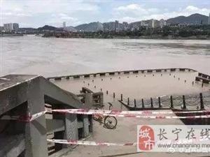 江水陡涨,宜宾海事局迅速出动,长江上游宜宾段实施全线停航封渡!