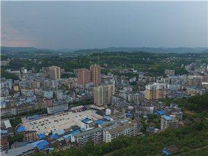 苍溪县城最新航拍