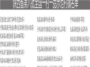 """汉中两个村镇被认定为""""国字号""""一村一品示范村镇"""