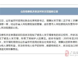 山东省农村信用社联合社原党委书记、理事长宋文瑄(正厅级)涉嫌受贿案被提