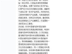 叶县的四城联动战略