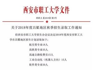 国家公办院校西安市职工大学来吕梁招生