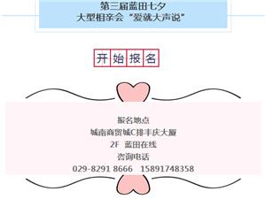 """第三届蓝田七夕大型(线下)相亲会"""""""