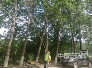 赵棚林业站积极开展重危害生物防治工作