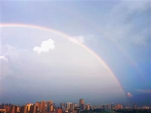 彩虹彩虹!汉中雨后惊现彩虹刷爆朋友圈,你看见了么?