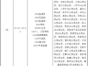 镇雄供电局 2018 年8月(全月) 停 电 公 告