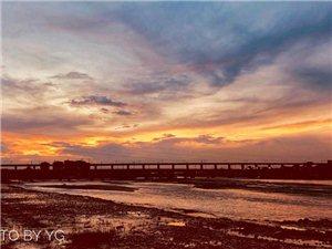 夜色撩人-抓住最后一抹红~~~手机延时,图片尽在鸭子河边