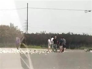 又是大车!孟各庄路口发生事故,伤者已送往医院!