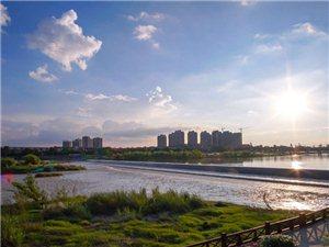夕阳下的鸭子河畔~~~鸭子河畔走,看尽广汉最美的夕阳(组图)
