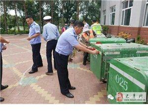 【巴彦网】巴彦县交警部门免费为环卫车辆黏贴反光标识