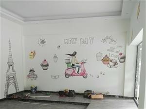 手绘墙画装饰美化