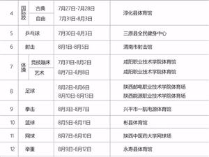 【通知】陕西省第十六届运动会票务须知,附武功赛事时间表!