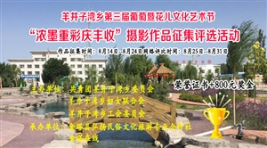 """羊井子湾乡第三届葡萄暨花儿文化艺术节 """"浓墨重彩庆丰收""""摄影"""