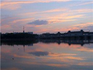 广汉鸭子河,朝霞美景(组图)
