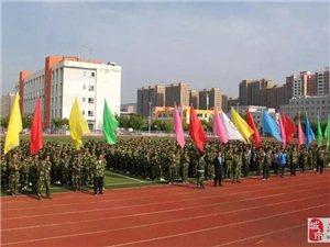 清水六中军训正在有序进行中