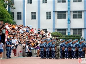 丹江口市一中2018级新生国防教育军事集中训练营闭营视频图片分享