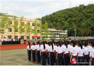 甘溪初级中学举行军训汇报表演暨新学期开学典礼