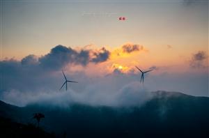 几年前拍的十里坪坦风电