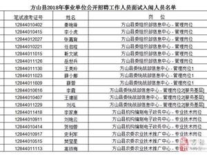 方山县2018年事业单位公开招聘公告