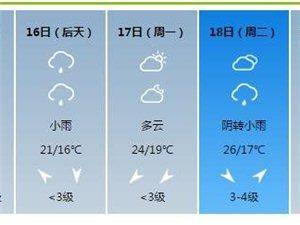 """澳门美高梅国际娱乐场亲 将迎来""""连阴雨""""天气 应注意添衣保暖"""