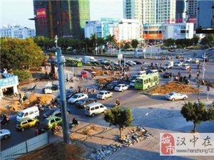 汉台多条交叉路口改造建设