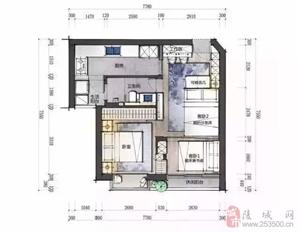 48�O轻松挤出2间房,卧室床藏墙里不占空间,太赞了!