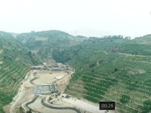 航拍:离石投资约4亿元的森林公园