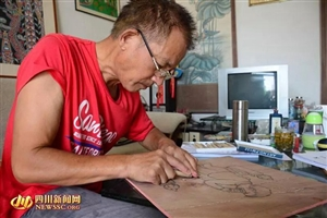 广汉南丰农民艺术家马世明开画展啦!赶快到市文化馆围观哟(组图)